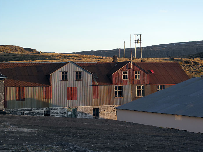 Djúpavík. On the roof of the old herring factory. -  (3 June 2010)