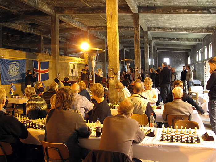 "Djúpavík. 3rd chess tournament in Djúpavík. - Official opening event by the ""chief"" of the tournament Hrafn Jökulsson. (17 till 19 June 2010)"