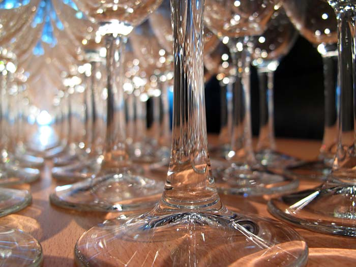 "Reykjavík. Wine glases during the Vernissage ""Power has a Fragrance"". -  (21 October 2010)"