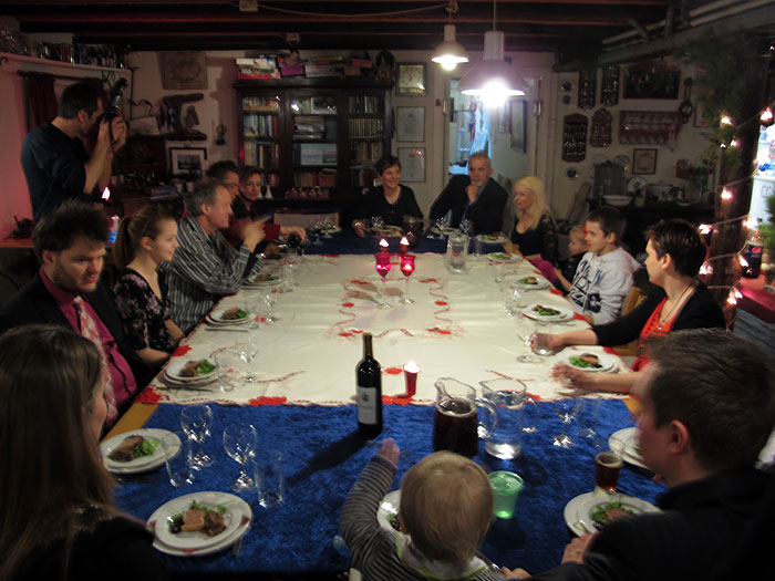 Djúpavík. Last hours of 2010. - Full house... for the feastful dinner. (31 December 2010)