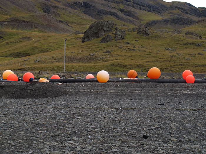 Hvalfjörður. Once more Hvalfjörður but this time complete. - More of these eye-catching balls. (24 September 2011)