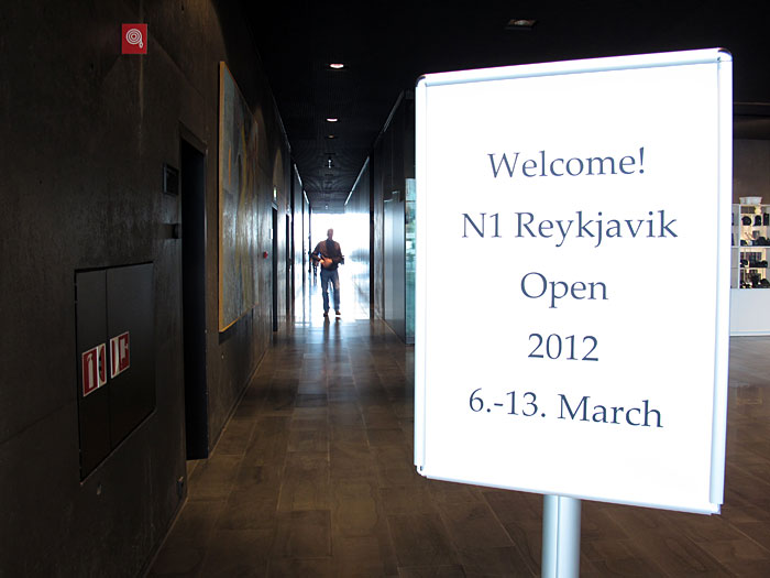 Reykjavík. Chess tournament Reykjavík Open 2012. - I. Welcome to the chess tournament at HARPA. (10 March 2012)