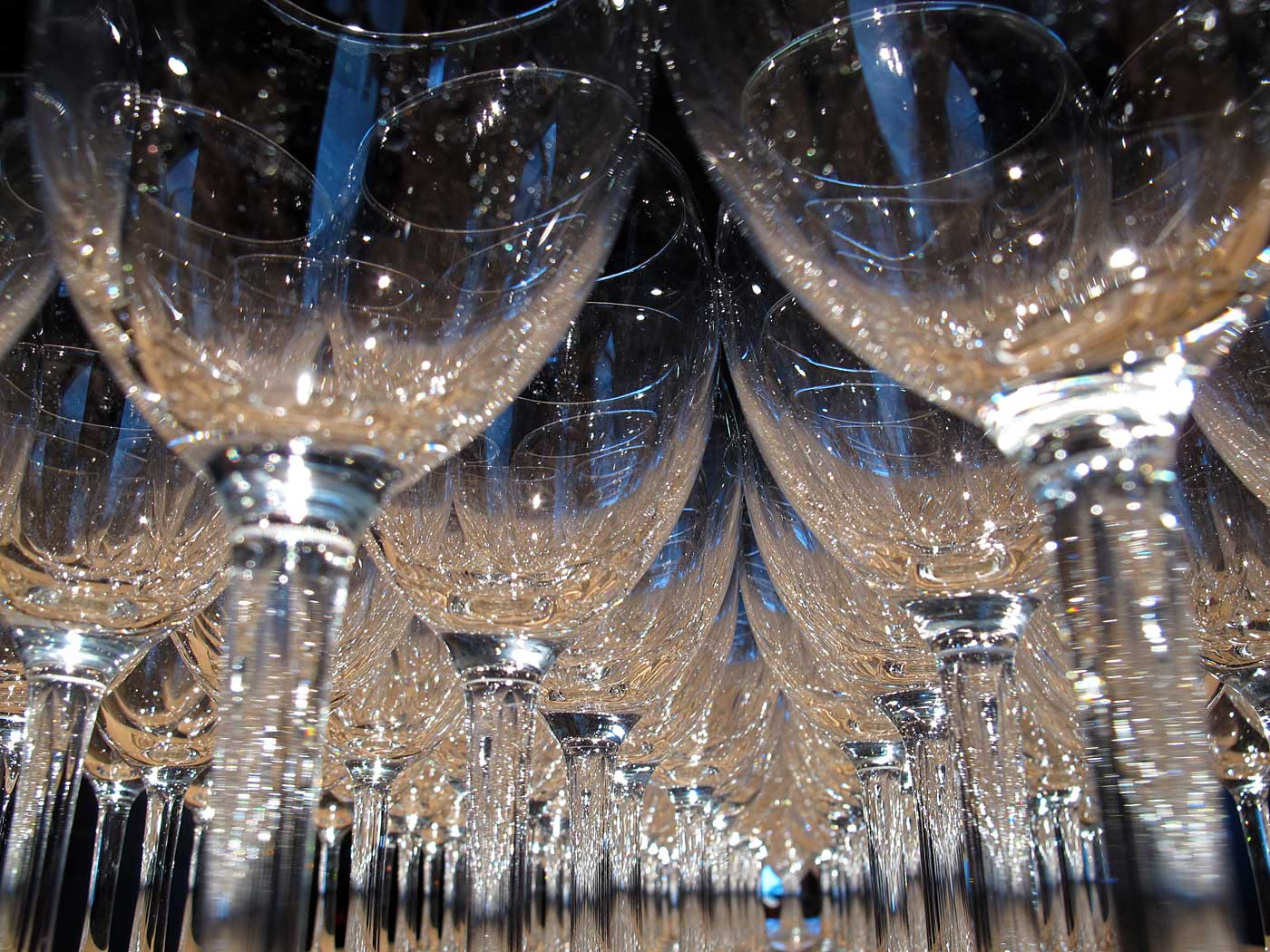Reykjavík. Wine glasses during an opening event. - IV. (19 January 2013)