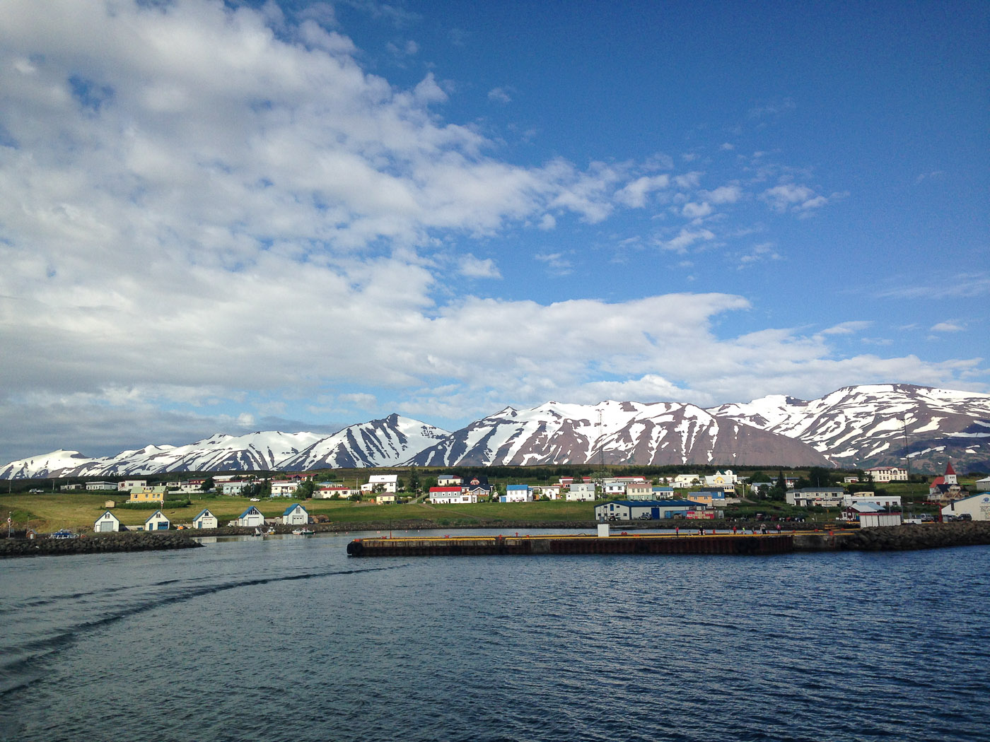 Northern Iceland - Hrísey island. On vacation. - <a href='http://www.hrisey.net/en/' target='_blank' class='linksnormal'>Hrísey</a>. Bless bless! (22 July 2014)