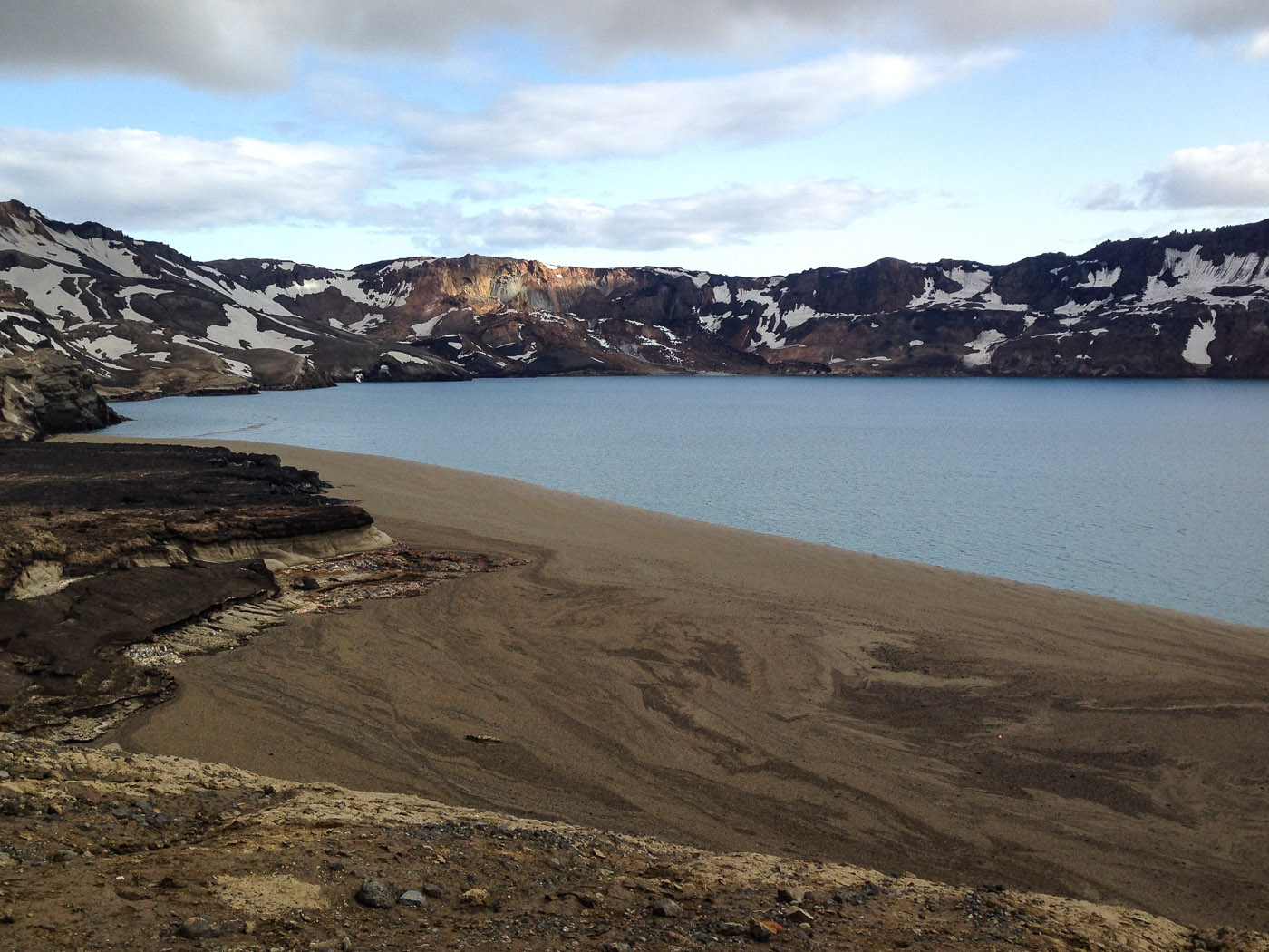 Northern Iceland - On the way to Askja. On vacation. - Lake Öskjuvatn. III. It is not a beach ... (24 July 2014)