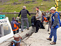 12 August 2008 � Norðurfjörður. Swiss guests on their way to the north.