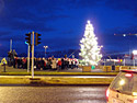 5 December 2009 � Reykjavík. The christmas tree is off, the christmas tree is on.     (Picture 2 of 3 pictures)
